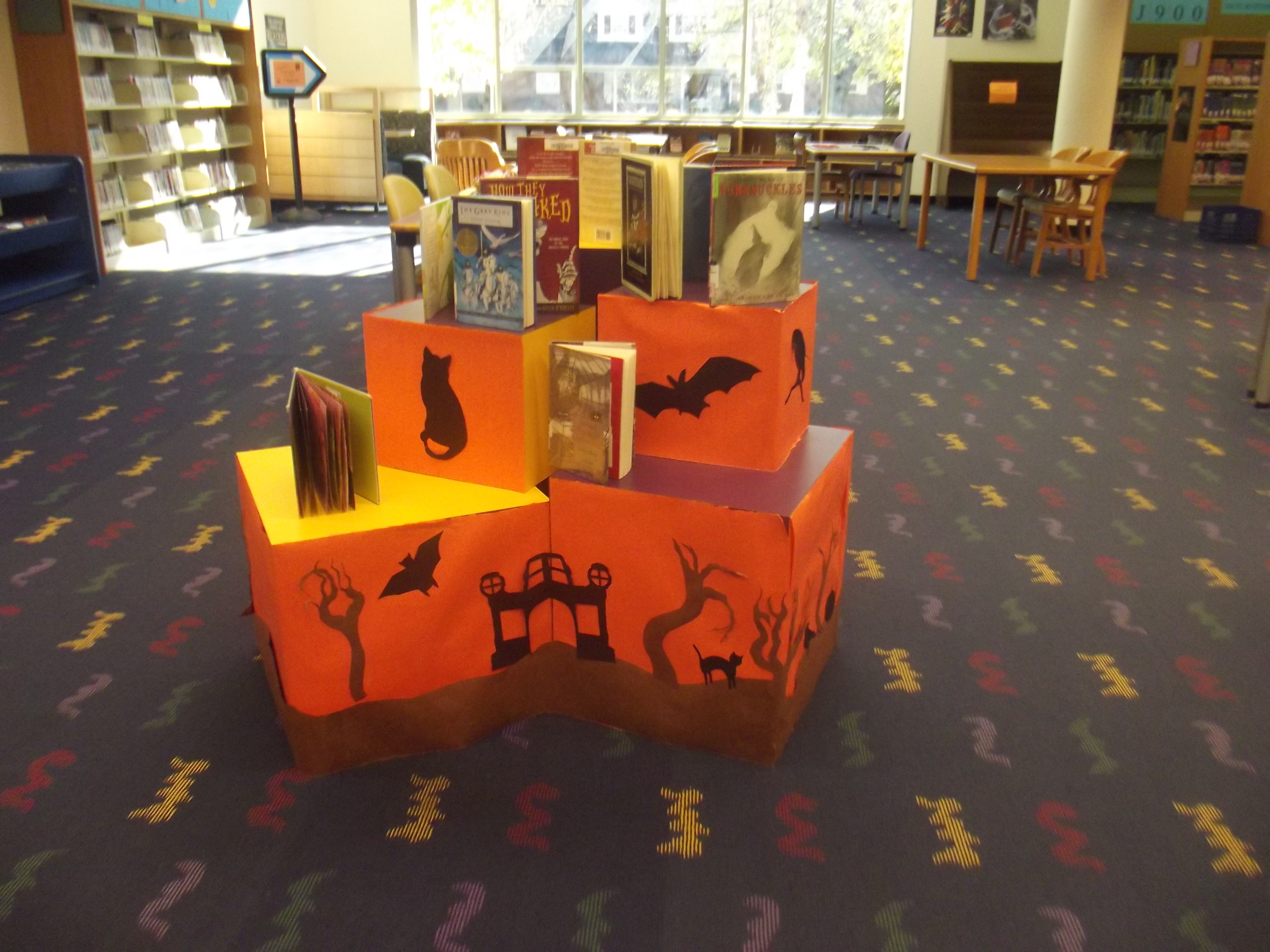 Party Ideas Library Display Halloween 2012 By Singing Light