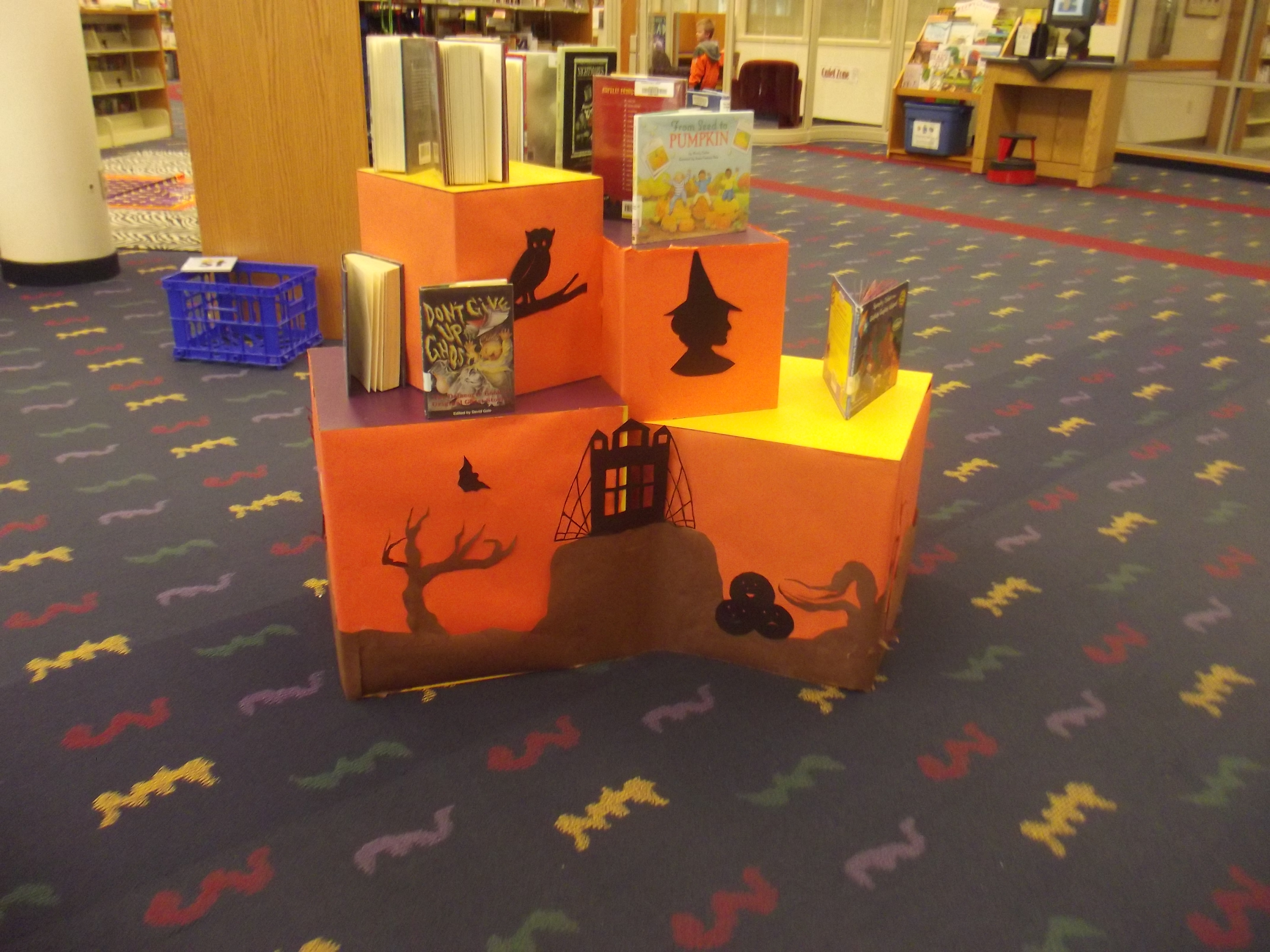 Library Display Halloween 2012 By Singing Light