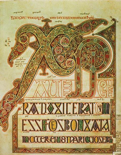 Chi Rho monogram, Lindisfarne